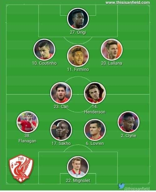 Saints 4-2-3-1 XI