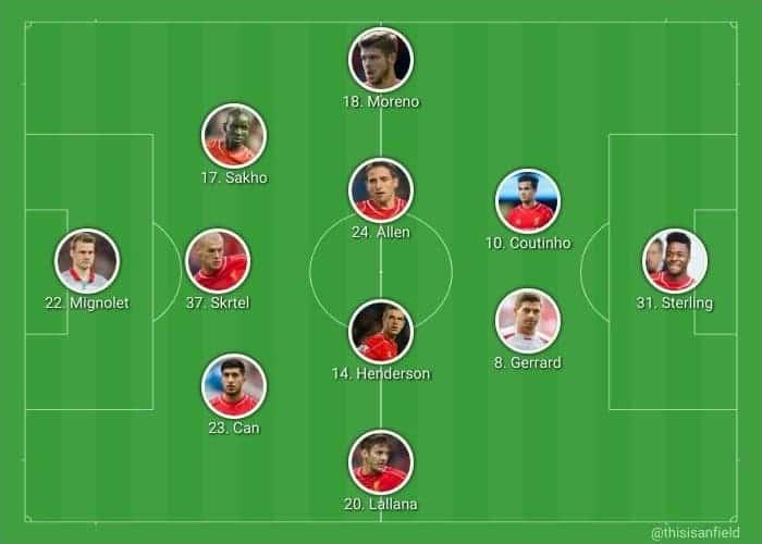 Gerrard in United XI