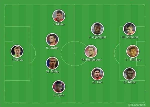 Unchanged XI vs. Sunderland