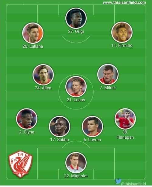 Stoke XI 4-3-3