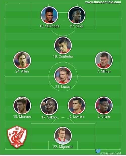 Everton XI 4-4-2