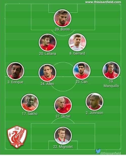 Bolton line up 1