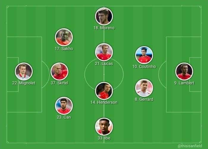 Stoke away XI 3-4-2-1
