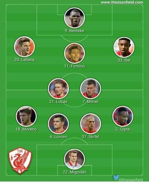Newcastle 4-2-3-1