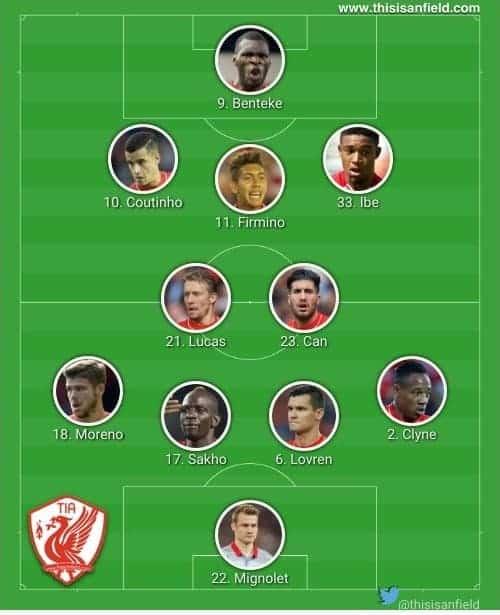 Stoke unchanged XI