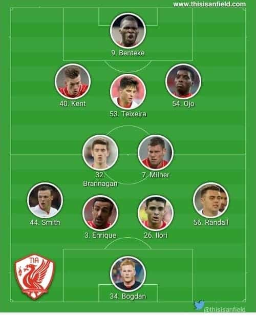 Exeter changed XI