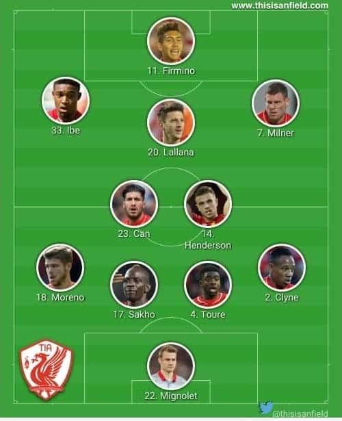 Villa 4-2-3-1
