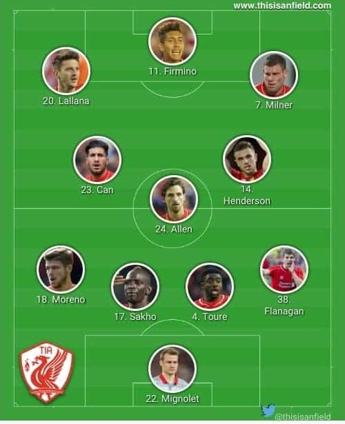 Stoke Changed XI
