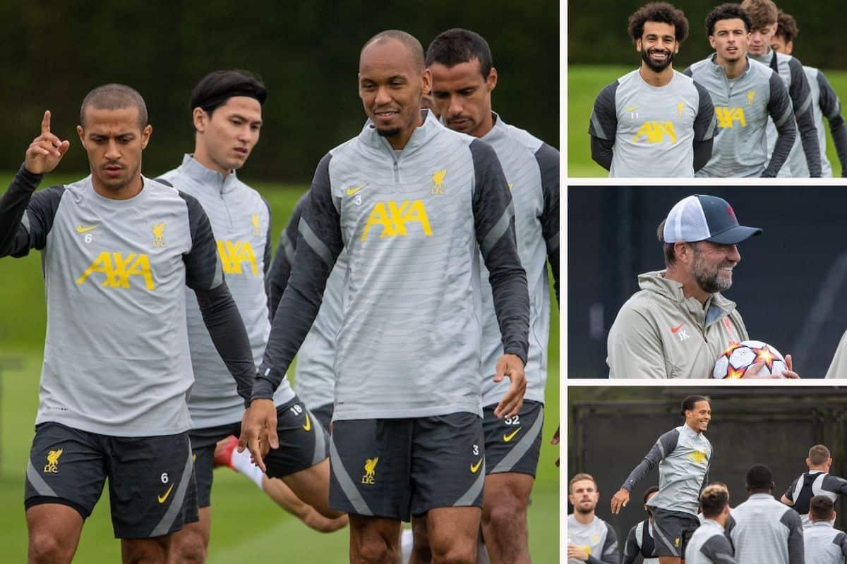 Minamino trains as Liverpool prepare at Kirkby for AC Milan visit