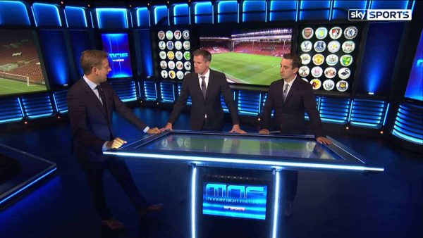 Video: Carragher and Neville analyse Benteke's offside goal vs. Bournemouth